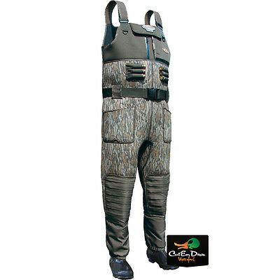 Drake Waterfowl Mst Eqwader 2.0 Chest Waders Insulated Bottomland Camo Size 9