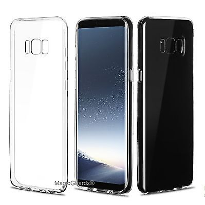 For Samsung Galaxy S8 / S8 Plus Case Clear Silicone TPU Rubber Protective Cover