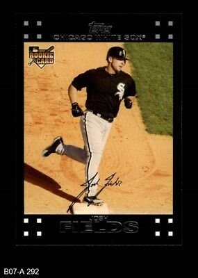 2007 Topps #292 Josh Fields White Sox NM/MT