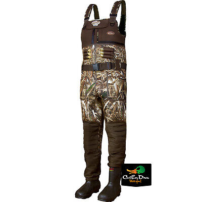 Drake Waterfowl Mst Eqwader 2.0 Chest Waders Insulated Boots Max-5 Camo Size 10