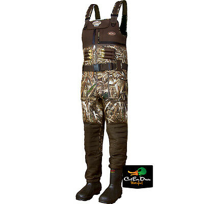 Drake Waterfowl Lst Eqwader 2.0 Chest Waders Insulated Boots Max-5 Camo Size 10