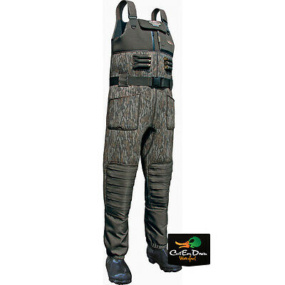 Drake Waterfowl Lst Eqwader 2.0 Chest Waders Insulated Bottomland Camo Size 10