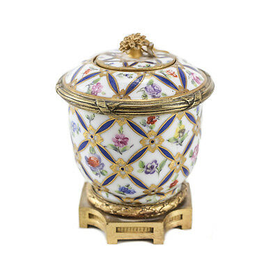 Sevres France Porcelain and Gilt Bronze Mounted Inkwell, circa 1900