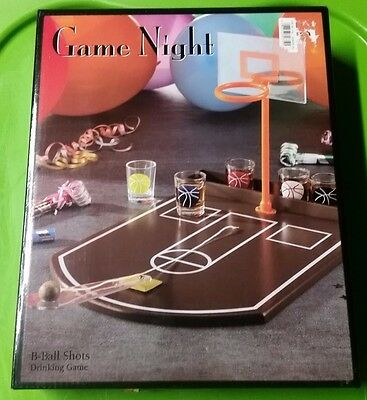 Game Night B-Ball Basketball Shots Drinking Game with Glasses
