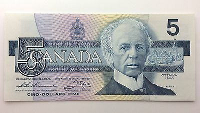 1986 Canada Five 5 Dollars GNC Series New Bill Note Uncirculated Banknote B045