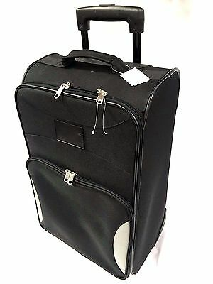 "Denco Sports Luggage Steadfast Upright Carry-On Rolling Luggage 21"" Black"