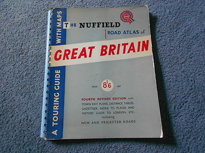 1959 Nuffield Bmc Great Britain Road Atlas Touring Guide With Maps Streets 4Th