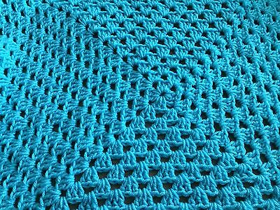 Christmas In July - New Handmade Baby Blanket/afghan - Turquoise Blue/green