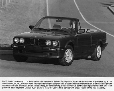 1991 BMW 3181 Convertible Factory Photo ca8045