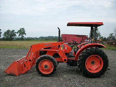 Kubota M6040 tractor w/ Front Loader, 4WD, Shuttle Shift, 2 remotes, 1,175 hours