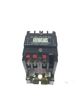 Allen Bradley Magnetic Latching Relay 700-RM800A1 120VAC Coil SERIES B USED, G87