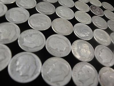 47 Roosevelt Dimes - 90% Silver Us Coins