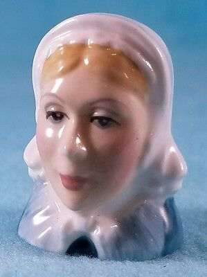 FRANCESCA Staffordshire Character Head Thimble - LITTLE DORRIT - Dickens Collect