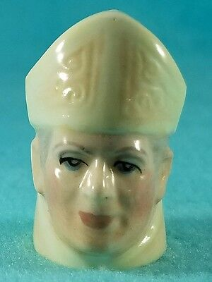 FRANCESCA Staffordshire Character Head Thimble - POPE JOHN PAUL II