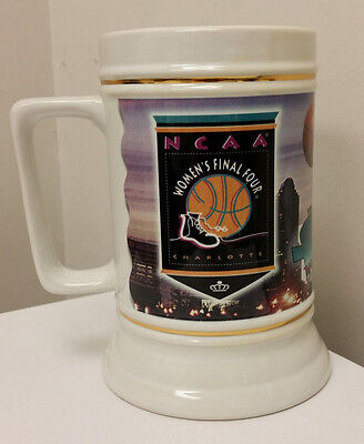 1996 Women's NCAA Final Four Beer Stein Mug UCONN, Tennessee, NC State, Georgia