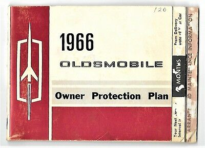 1966 66 Oldsmobile Owner Protection Plan Auto Car Dr Pernoud Book St Louis Plate