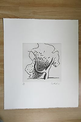1991 Signed Surrealist Etching, Limited Edition Original Abstract Art, Southall