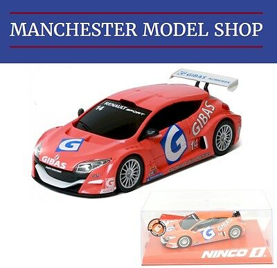 Ninco 55097 1:32 Renault Megane Trophy Gibas #14 2009 With Lights NEW BOXED
