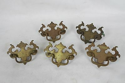 Vintage Ornate Brass Metal Drawer Pulls Hardware Antique Architectural Salvage