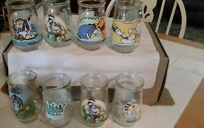 Vintage Welch's Jelly Jars Disney   Set of 8 Juice Glasses