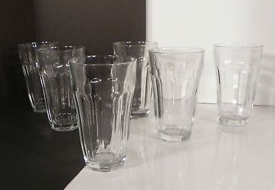 Pasabahce Palaks Turkey Highball Drink Glass Clear Paneled Tumbler (s) LOT OF 6