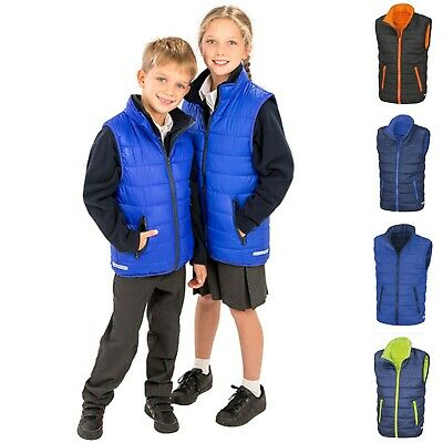 Childrens Quilted Padded Bodywarmer Gilet Body Warmer Gillet Sleeveless Jacket