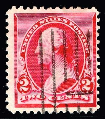 """USA STAMP #220a 2c """"Cap on Left"""" Bank Note 1890 Used"""