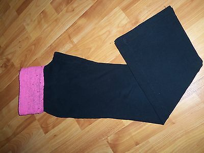 Girls Black/pink Sequins Athletic/gym Pants Sz M 1012/ So/kohls Cotton/spandex