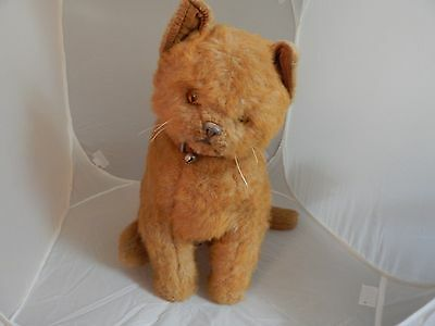Large Ginger Brown Vintage Plush Stuffed Cat Waterford-Herts by Real Soft Toys