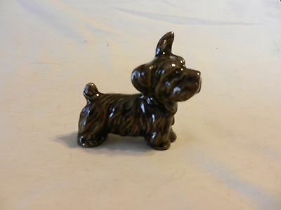 """Ceramic Scottish Terrier Dog Figurine 2.5"""" tall Black and Grey from Copp"""