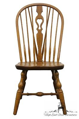 S BENT & Bros Solid Oak Bowback Windsor Dining Side Chair