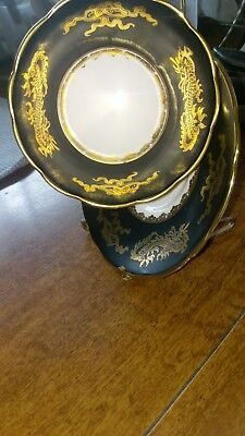 bone china black and gold tea cup and saucer