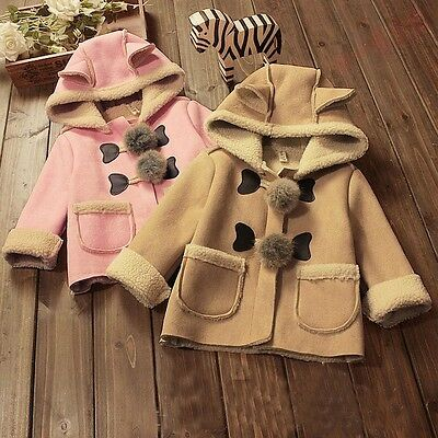 BibiCola Baby Girl Jacket Coats Children Hooded Outerwear Kids Warm Outfits