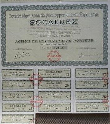 France 1958 Bond With 13 Coupons Development In Algeria