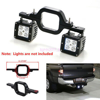 Universal Tow Hitch Mount Bracket Dual LED Back-up Reverse Search Offroad Light