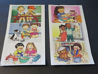 Lot of 6 uncut CAMPBELL'S SOUP COMPANY Campbell Kids Postcards 1996