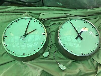Vintage Railway Clocks - X 2- Synchronome- 35cm/ Made In England