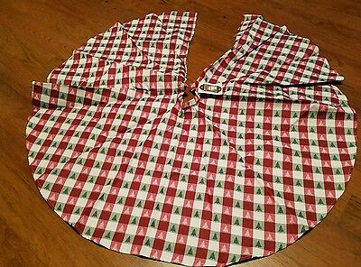 New with tags  Christmas tree skirt red green white trees  on it size 41""