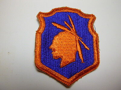 A     WW 2 U S Army  98th  Division Cut Edge Snow  Back Patch