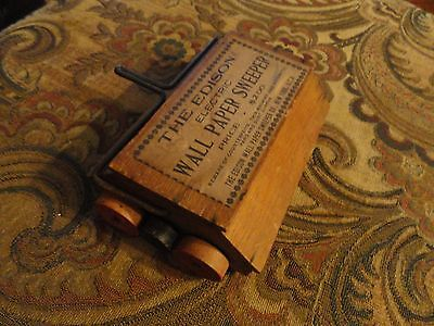 Super Rare Thomas Edison Wall Paper Sweeper  Carpet Cleaner New York Antique