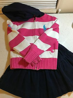 Small Ralph Lauren girls clothing set in good condition