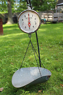 Vintage Rustic Jacobs Brooklyn New York USA Detecto 20lb Capacity Hanging Scale