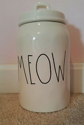 """Rae Dunn cat """"Meow"""" Canister"""