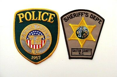 2 Patches - Gaston County Police and Sheriff Department - North Carolina Unused