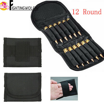 12 Round Molle Rifle Shell Holder .410 .308 .243 Bullets Wallet Bag Pouch Case