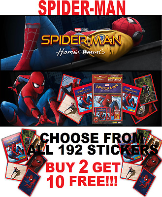 "Panini SPIDERMAN HOMECOMING STICKERS ""BUY 4 GET 8 FREE!!"" FREE 1ST CLASS POST"