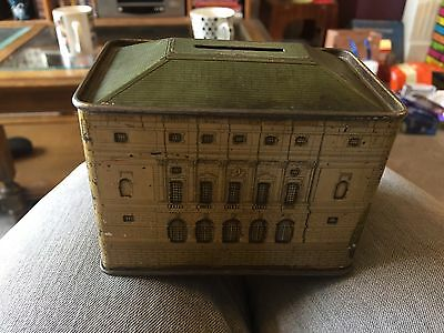 Rare 1920,s Queen Ames Dolls House Chubb And Sons Lithographed Money Bank