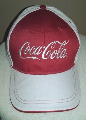 Coca-Cola Red & White One Size Baseball Style Cap Hat Strapback by Vitronic