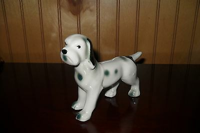 Vintage spotted dog figurine Box face Made in Japan
