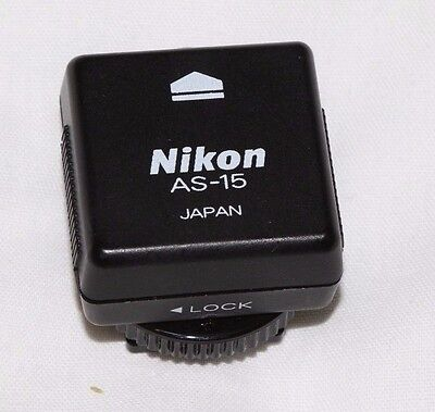 Nikon AS-15  Hotshoe to Co-axial Adapter